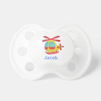 Helicóptero lindo y colorido para los niños chupetes de bebé