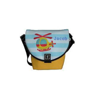 Helicóptero lindo y colorido para los niños para l bolsa de mensajería