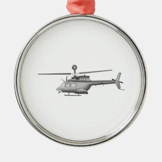 Helicóptero militar adorno de reyes