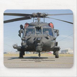 Helicóptero negro de las operaciones especiales mouse pad