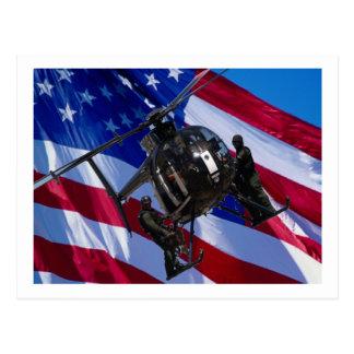 Helicóptero negro postal
