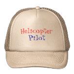 Helicóptero, piloto gorro de camionero