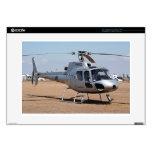 Helicóptero (plata) calcomanías para portátiles