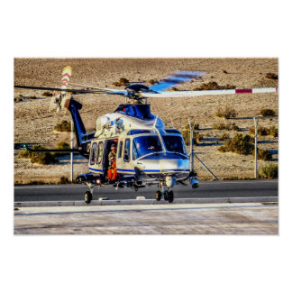 Helicóptero policial póster