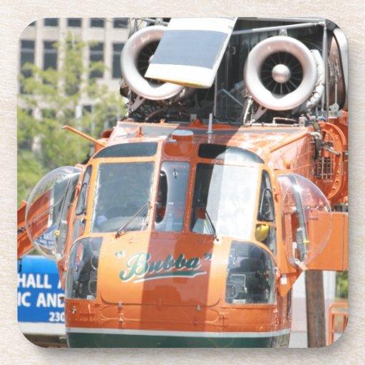 helicóptero posavasos de bebida