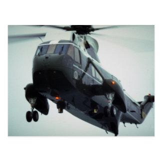Helicóptero presidencial que llega Pointe Du Hoc Postal