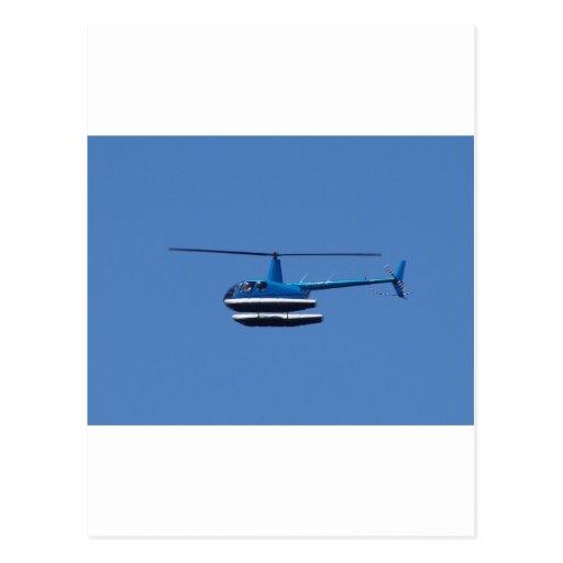Helicóptero R44 con los flotadores Tarjeta Postal