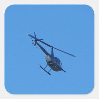Helicóptero R44 Pegatina Cuadrada