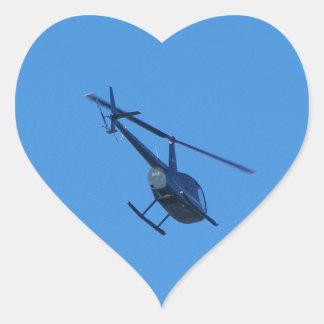 Helicóptero R44 Pegatina En Forma De Corazón