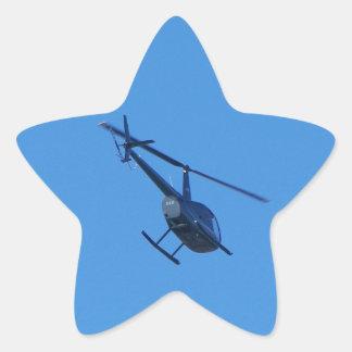 Helicóptero R44 Pegatina En Forma De Estrella