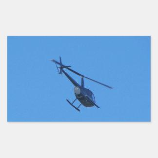 Helicóptero R44 Pegatina Rectangular