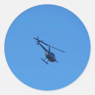 Helicóptero R44 Pegatina Redonda