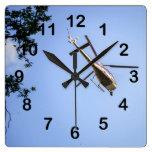 Helicóptero Relojes De Pared