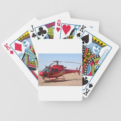 Helicóptero, rojo barajas