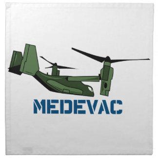 Helicóptero sanitario del ejército Opsrey Servilleta Imprimida