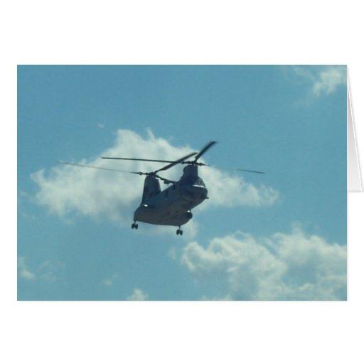 Helicóptero Tarjeta De Felicitación