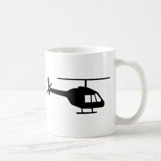 Helicóptero Taza Básica Blanca