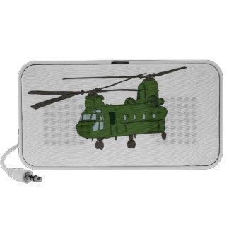 Helicóptero verde de los militares de CH-47 Notebook Altavoces