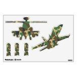 Helicóptero y bombas planos militares del camuflaj