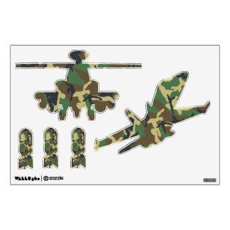 Helicóptero y bombas planos militares del vinilo adhesivo