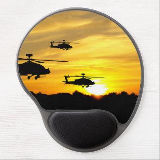 Helicópteros en la salida del sol alfombrillas con gel