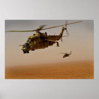 Helicópteros traseros MI-35 Póster
