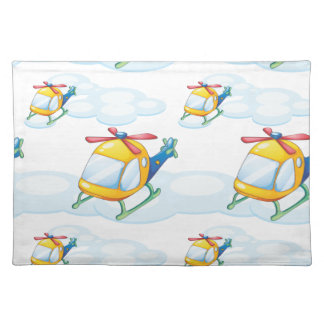 helicopters cloth placemat