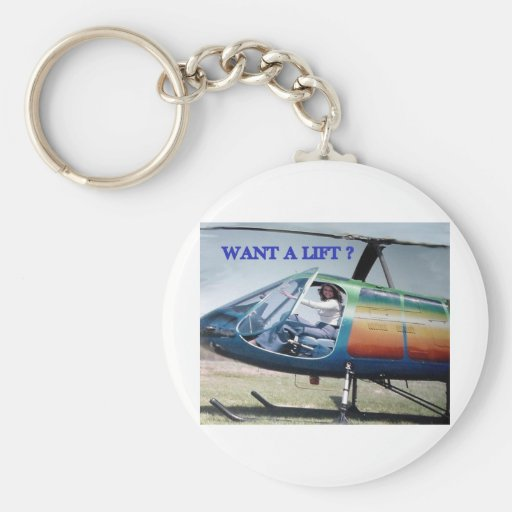 helicopters, couch potato keychains