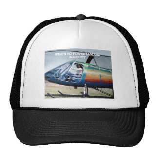 helicopters, elecric outlet trucker hat