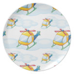 helicopters melamine plate