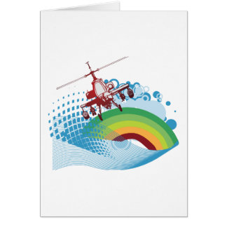 helicoptor ride vector design card