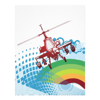 helicoptor ride vector design letterhead
