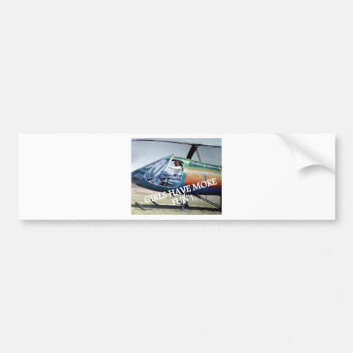 helicoters car bumper sticker