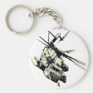 Helikopter Basic Round Button Keychain