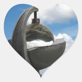 heliógrafo pegatina corazón personalizadas