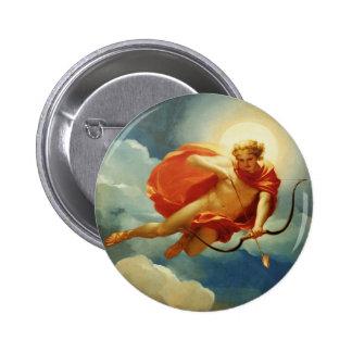 Helios como personificación del mediodía pin redondo de 2 pulgadas