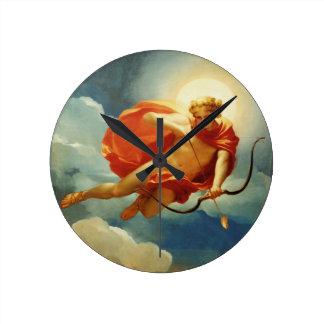 Helios como personificación del mediodía reloj redondo mediano