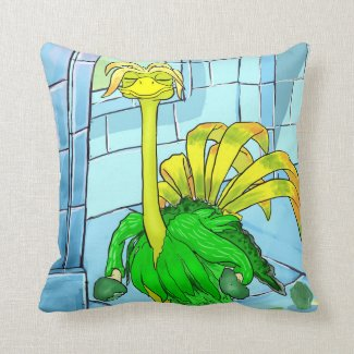 Helios Loves Greens Throw Pillow