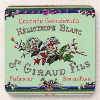 Heliotrope Blanc Perfume Label Beverage Coaster