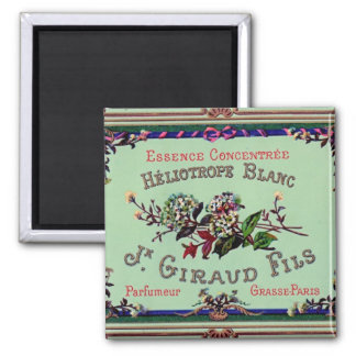 Heliotrope Blanc Perfume Label Fridge Magnet