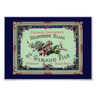 Heliotrope Blanc Perfume Label Photo Print