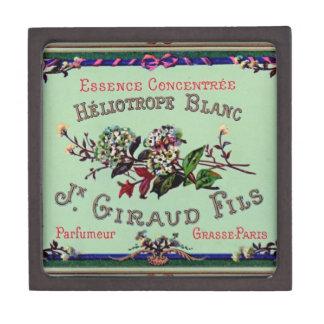 Heliotrope Blanc Perfume Label Premium Trinket Boxes