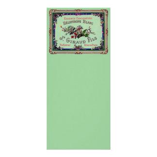 Heliotrope Blanc Perfume Label Rack Card Template