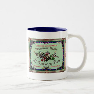 Heliotrope Blanc Perfume Label Two-Tone Coffee Mug
