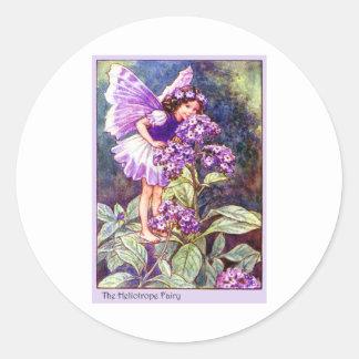 Heliotrope Fairy Classic Round Sticker