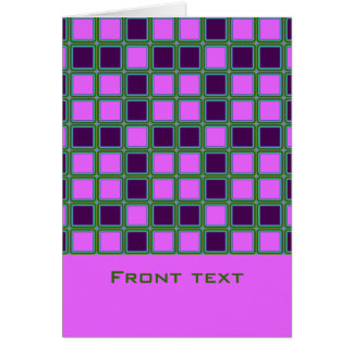 Heliotrope squares mosaic pattern, text template card