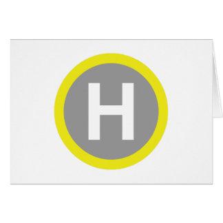 Helipad Sign Card
