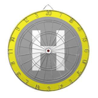 Helipad Sign Dartboard With Darts