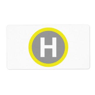 Helipad Sign Label