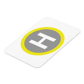Helipad Sign Rectangular Photo Magnet
